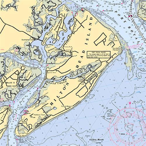 Map Unique Hilton Head Island