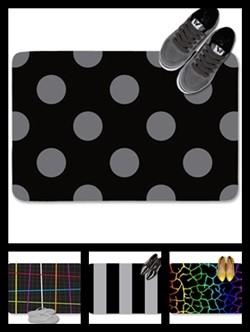 Black color theme doormats