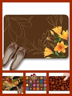 Brown color theme doormats