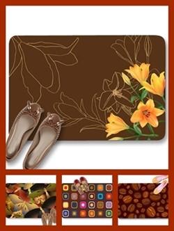 Brown color theme doormats