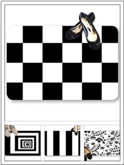 Black & white color theme doormats