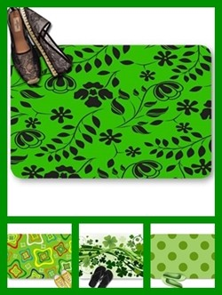 Green color theme doormats