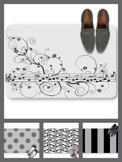 Gray color theme doormats