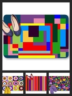 Multi color theme doormats
