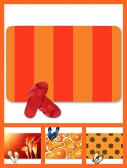 Orange color theme doormats