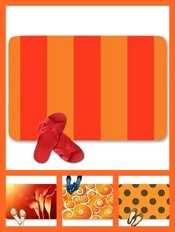 Orange color theme doormats
