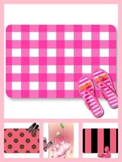 Pink color theme doormats