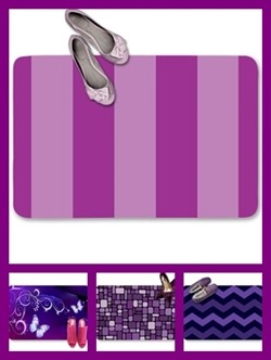 Purple color theme doormats