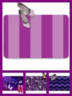 Purple color theme doormats