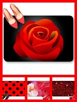 Red color theme doormats