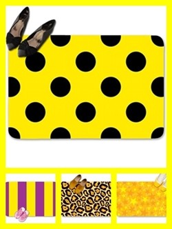 Yellow color theme doormats
