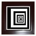 Black & white graphic framed art tile
