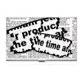 Newspaper clipping business card case