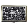 Black white circles cigarette case for 100's