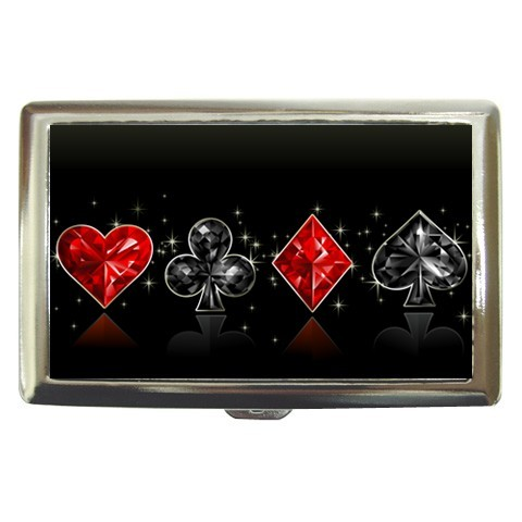 Poker signs cigarette case for 100's