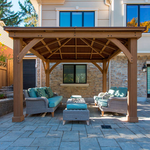 Cedar Wood 12' x 12' Gazebo with Aluminum Roof - Northern ...