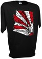 Arizona Cardinals State Map Phoenix Glendale tee bk.jpeg