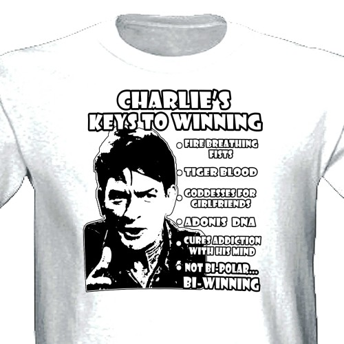 charlie sheen winning shirt. Charlie Sheen Winning Two and