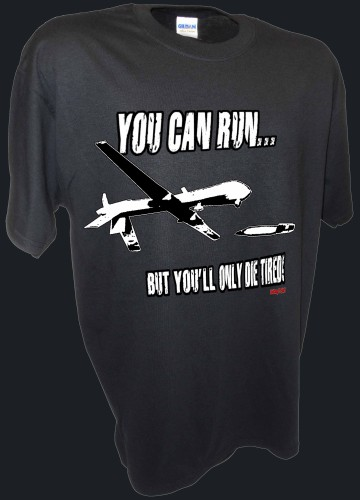 You Can Run Army Airforce Predator Drone Missle Bomber War Iraq black.jpeg
