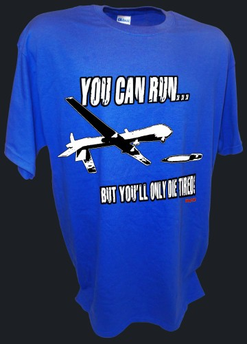 You Can Run Army Airforce Predator Drone Missle Bomber War Iraq blue.jpeg