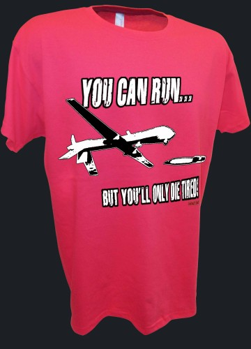 You Can Run Army Airforce Predator Drone Missle Bomber War Iraq pink.jpeg