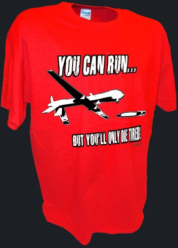 You Can Run Army Airforce Predator Drone Missle Bomber War Iraq red.jpeg
