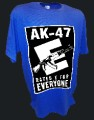 Ak47 Rated E Assault Rifle Guns Firearms M16 Pro Gun tee blue.jpeg
