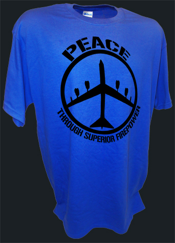 B52 Bomber Peace Sign Thru Superior Firepower Funny Pro War bl.jpeg