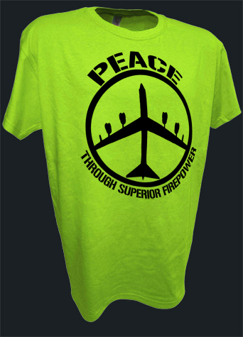 B52 Bomber Peace Sign Thru Superior Firepower Funny Pro War lime.jpeg