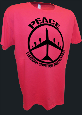 B52 Bomber Peace Sign Thru Superior Firepower Funny Pro War pink.jpeg