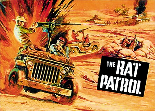 Rat Patrol Tv Army Jeep 50 Cal German Dak British Desert