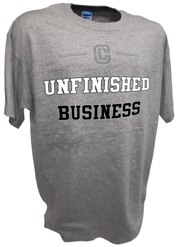 Nick Swisher Cleveland Indians Unfinished Business t shirt red.jpeg