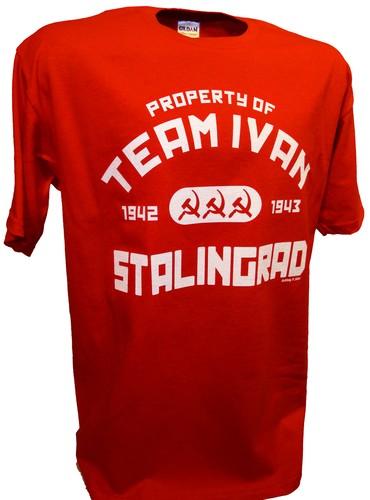 Team Ivan Russian Ww2 Red Army Stalingrad Achtung T Shirt Ww2