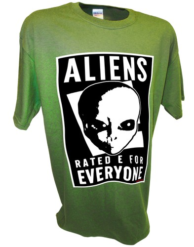 Aliens Rated E Paranormal Ufo Area 51 Bigfoot green.jpeg