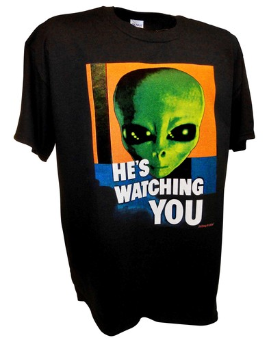 Alien Hes Watching Paranormal Area 51 Ufo x files t shirt bk.jpeg