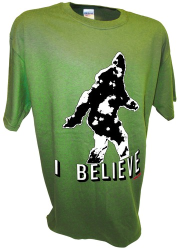 Bigfoot Sasquatch Yeti Paranormal Aliens Sightings t shirt green.jpeg