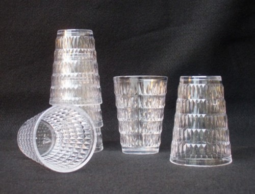 Crystal Image Acrylic Plastic 6 Ounce Juice Glass Set Of