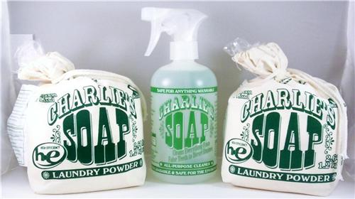 Charlies Soap 2 Laundry Powders with All Purpose Cleaner 3 Pk