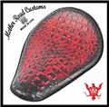 11x14 Ant Red Alligator Chopper Harley Sportster Spring Solo Seat Motorcycle USA