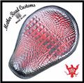10x13 Antique Red Alligator Random Chopper Harley Sportster Spring Solo Seat