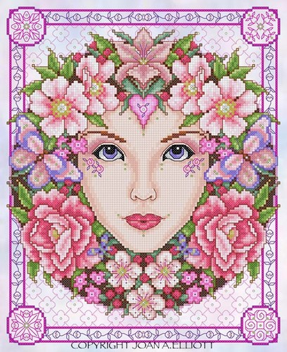rose goddess cross stitch pattern jannz crafts