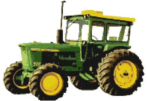 8 John Deere Tractor Cross Stitch Patterns LOT