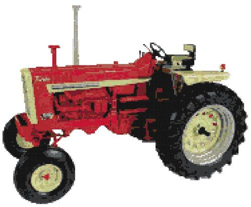 Farmall IH 1206 Tractor Cross Stitch Pattern