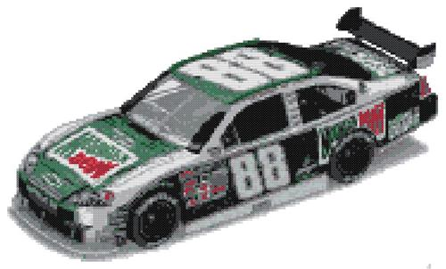 Earnhardt, Jr. Nascar 88 MtDew Cross Stitch ePattern