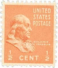 Scott #803 0.5-Cent Benjamin Franklin Single - MNH.jpg