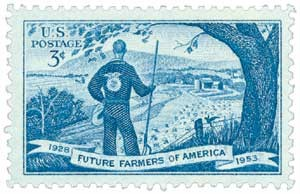 Scott #1024 3-Cent Future Farmers of America Single - MNH.jpg