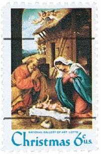 Scott #1414a 6-Cent Christmas Nativity Scene Pre-cancelled Single - MNH.jpg