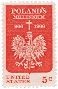 Scott #1313 5-Cent Polish Millennium Single - MNH.jpg