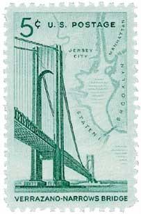 Scott #1258 5-Cent Verrazano-Narrows Bridge Single - MNH.jpg