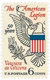 Scott #1369 6c 50th Anniversary of the American Legion - MNH.jpg